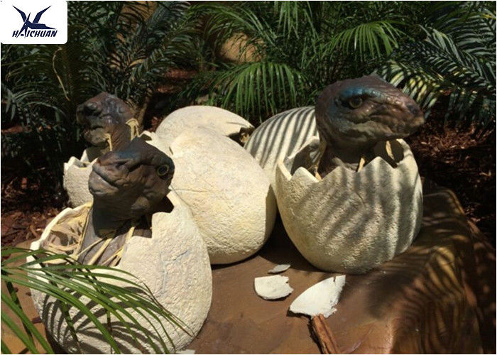 Playground Park Dinosaur Garden Ornaments Hatching Animatronic Dinosaur Egg Decoration